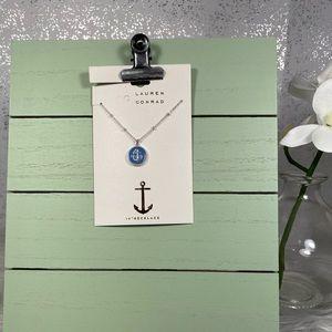 🆕 LC Lauren Conrad Silver & Blue Anchor Necklace